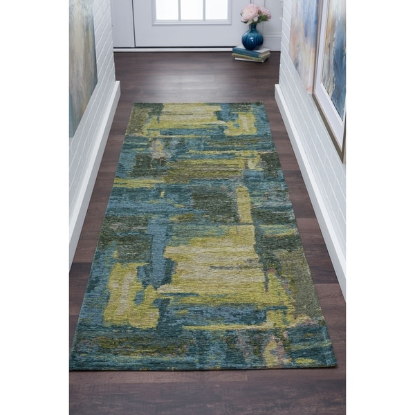 Drayton Abstract Acrylic Chenille Runner - 2'7 x 7'10