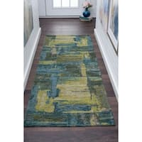 Drayton Abstract Acrylic Chenille Runner - 2'7 x 7'3