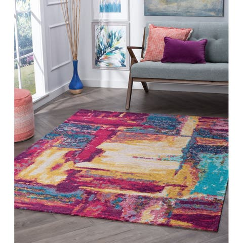 Drayton Abstract Acrylic Chenille Area Rug
