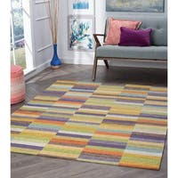 "Drayton Colorblock Acrylic Chenille Area Rug (5'3 x 7'3) - 5'3"" x 7'3"""
