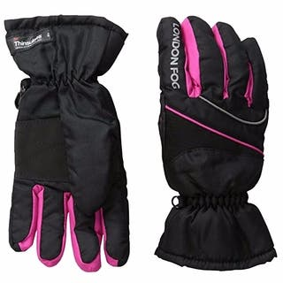 London Fog Girls Thinsulate Lined Waterproof Ski Gloves Black|https://ak1.ostkcdn.com/images/products/17981052/P24155161.jpg?impolicy=medium