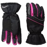 London Fog Girls Thinsulate Lined Waterproof Ski Gloves Black