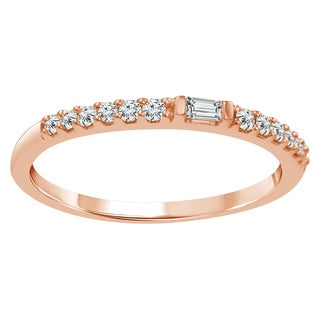 Sparkle Collection 1/6CT Diamond French Band in 10KT Rose Gold