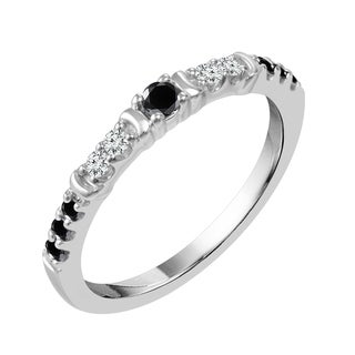Sparkle Collection 1/4CT Diamond Dalmation Band in Sterling Silver