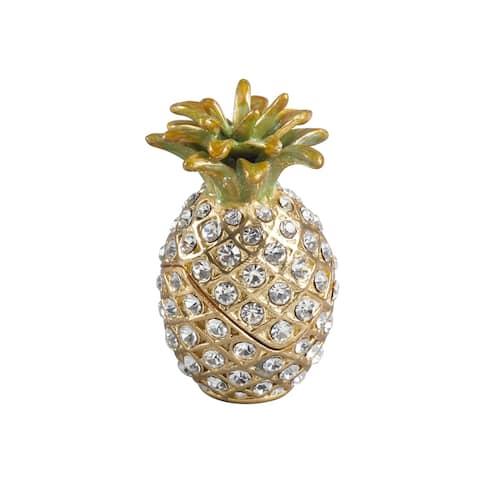 Bejeweled Pinapple Decorative Trinket Box