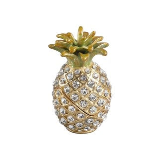 Bejeweled Pinapple Decorative Trinket Box
