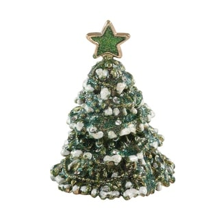 Bejeweled Christmas Tree Decorative Trinket Box