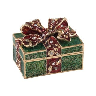 Bejeweled Christmas Gift Decorative Trinket Box