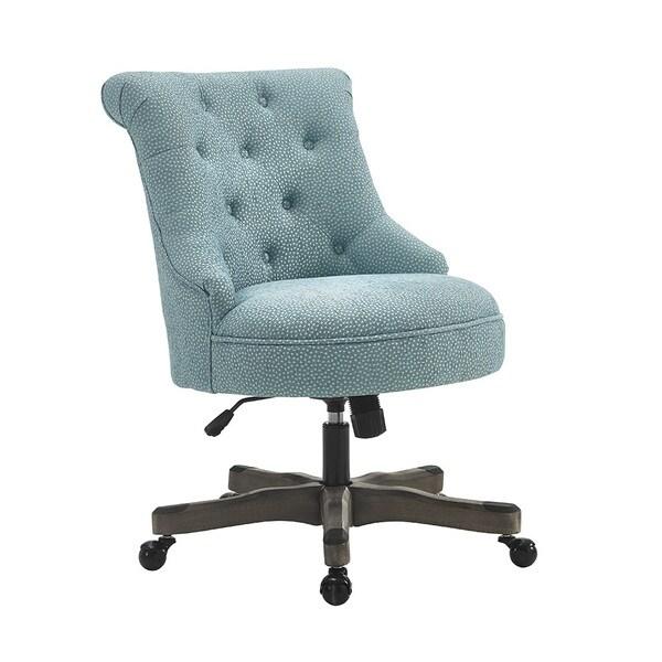Shop Bond Office Chair Light Blue Gray Wash Wood Base