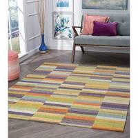 "Drayton Colorblock Acrylic Chenille Area Rug (6'7 x 9'6) - 6'7"" x 9'6"""