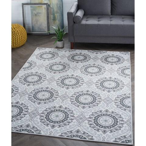 Alise Rugs Majolica Transitional Geometric Area Rug
