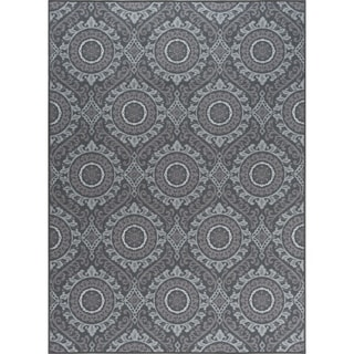 Alise Rugs Majolica Transitional Geometric Area Rug (grey - 67 x 96)