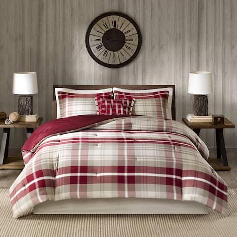 Woolrich Sheridan Tan/ Red Oversized Cotton Comforter Set