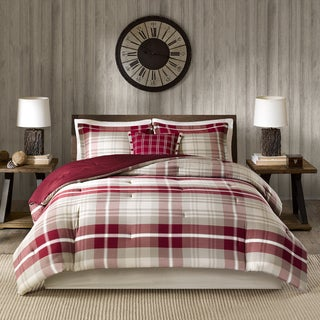 Link to Woolrich Sheridan Tan/ Red Oversized Cotton Comforter Set Similar Items in Comforter Sets