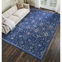 Kelly Ripa Home Origin Navy Area Rug by Nourison - 7'9 x 10'10