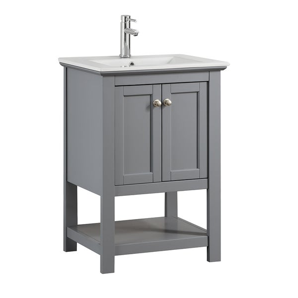 "Commercial Lighting Manchester: Shop Fresca Manchester 24"" Gray Traditional Bathroom"