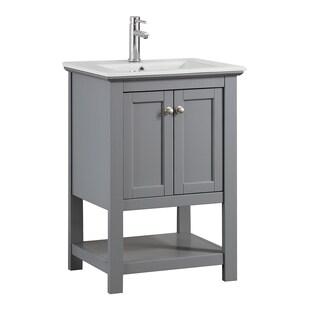 "Fresca Manchester 24"" Gray Traditional Bathroom Vanity"