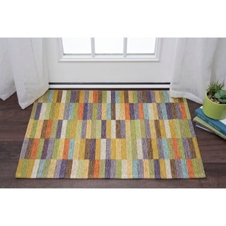 Drayton Colorblock Acrylic Chenille Scatter Rug (2' x 3')