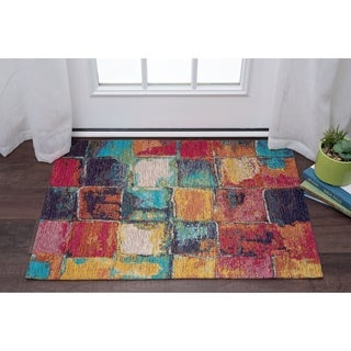 Drayton Abstract Acrylic Chenille Scatter Rug - multi - 2' x 3'
