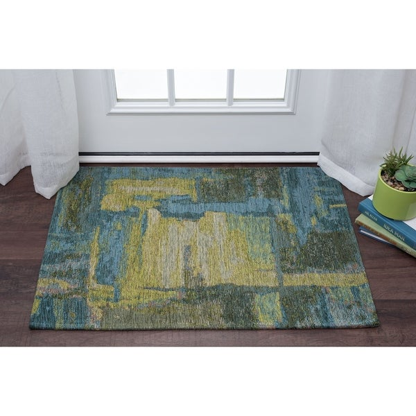 Drayton Abstract Acrylic Chenille Scatter Rug (2' x 3')