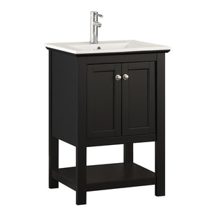 "Fresca Manchester 24"" Black Traditional Bathroom Vanity"