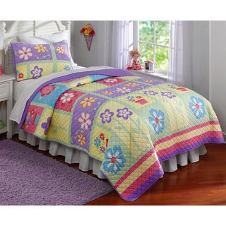 Laura Hart Kids Sweet Helena 3-piece Full/ Queen Size Quilt Set (As Is Item)