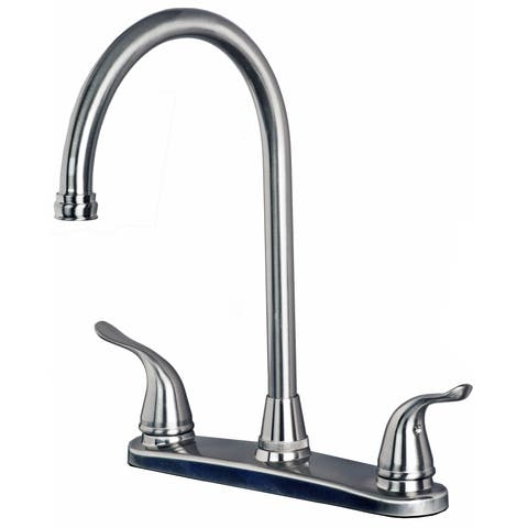 Laguna Brass 1270 Classic Two Handle High Arc Swivel Kitchen Faucet