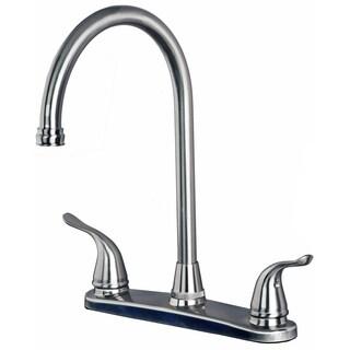 Laguna Brass 1270 Classic Two Handle High Arc Swivel Kitchen Faucet