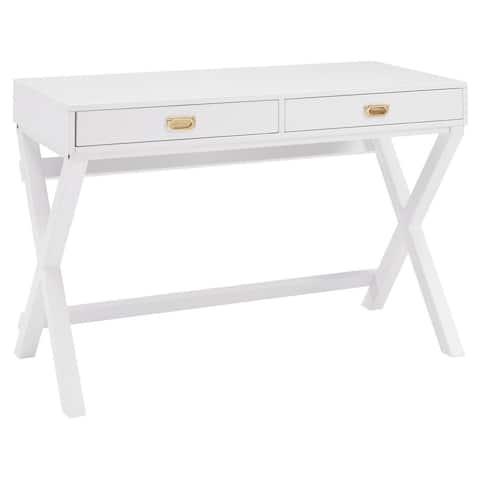 Poppy White Writing Desk