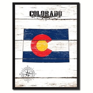 Colorado State Vintage Flag Canvas Print Picture Frame Home Decor Wall Art