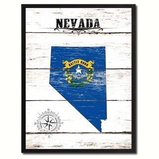 Nevada State Vintage Flag Canvas Print Picture Frame Home Decor Wall Art