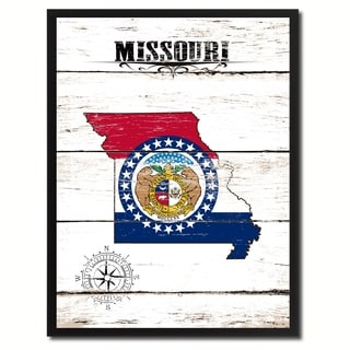 Missouri State Vintage Flag Canvas Print Picture Frame Home Decor Wall Art