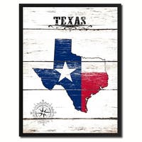 Texas State Vintage Flag Canvas Print Picture Frame Home Decor Wall Art