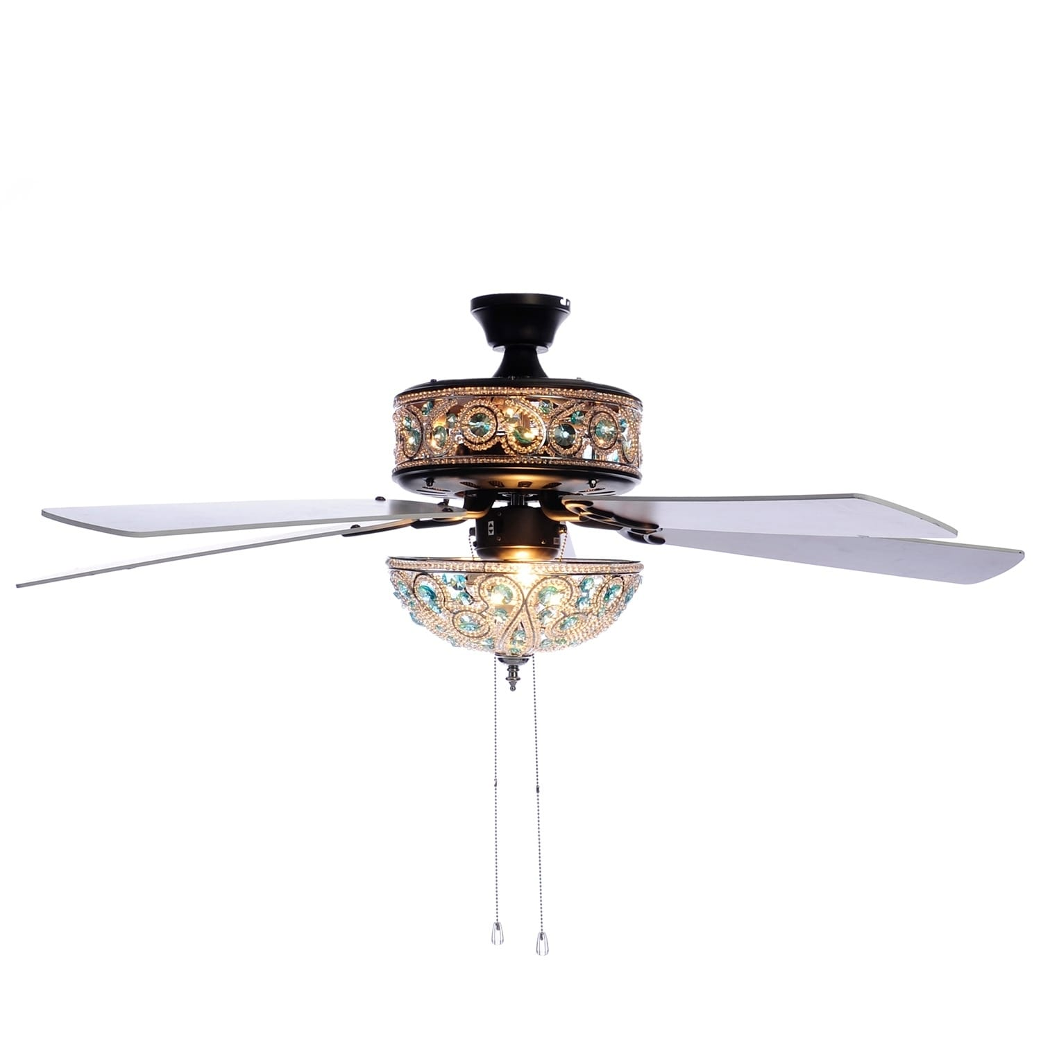 """River Of Goods 50"""" Chandelier Crystal Ceiling Fan with Re..."""