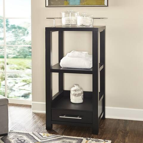 Kent Black Tall Storage Cabinet
