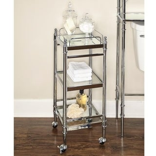 Link to Pinnacle Chrome and Glass Cart Similar Items in Bathroom Furniture