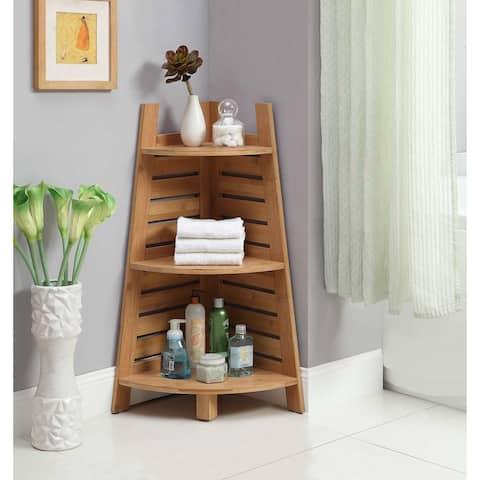 Bracken Bamboo Corner Shelf - N/A
