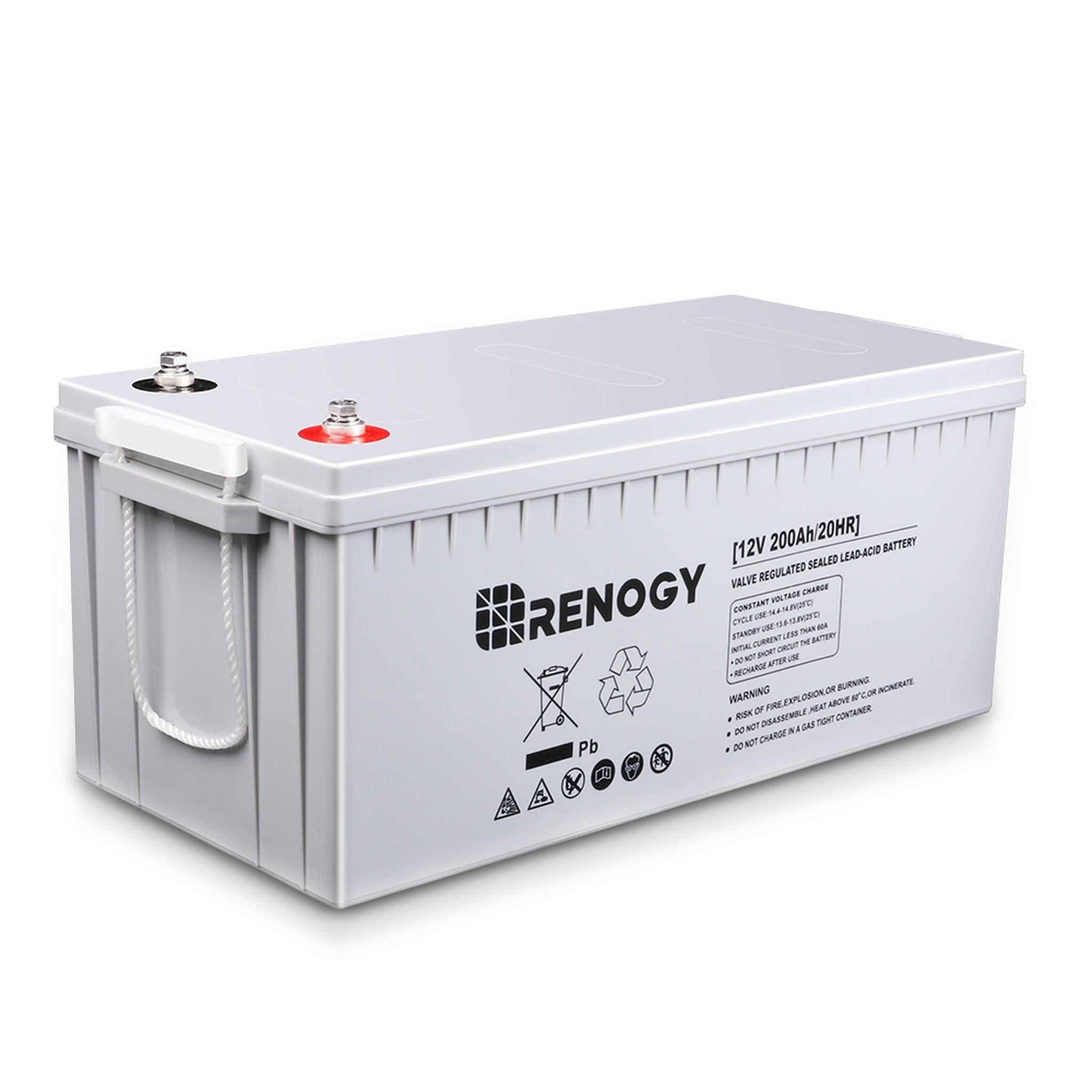 Renogy Deep Cycle AGM Battery 12 Volt 200Ah, Grey #BATT-A...