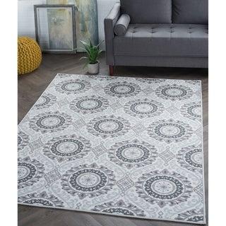 Link to Alise Rugs Majolica Transitional Geometric Runner Rug Similar Items in Farmhouse Rugs