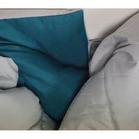 BYB Glacier Gray/Ocean Depths Teal Reversible Twin XL Comforter