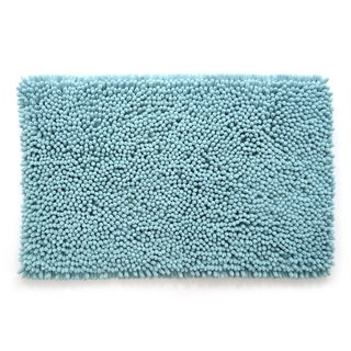 "Stephan Roberts Ultra Plush Jumbo Chenille Bath Mat, Cream, 21"" x 34"" - 21 x 34"