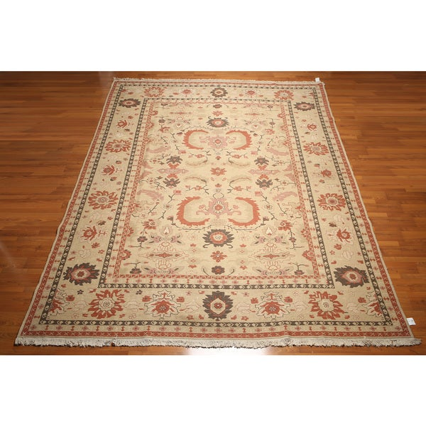 Pure Wool Hand Knotted Traditional Soumak Oriental Area Rug - multi
