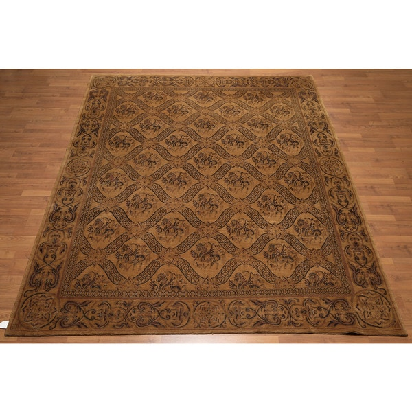 """Hand Knotted Traditional Classic Tibetan Area Rug (8'x9'6"""")"""