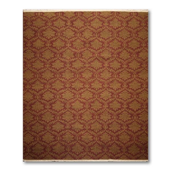Reversible Pure Wool Antique Replica Soumak Oriental Area Rug (8'x10')