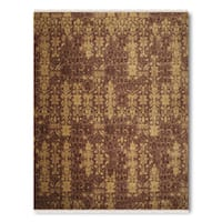 Pure Wool Transitional Contemporary Handmade Persian Oriental Area Rug - multi