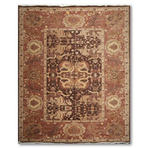 Traditional Eclectic Handmade Persian Oriental Wool Area Rug - 9' x 12'
