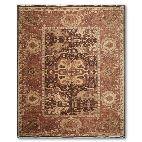 Traditional Eclectic Handmade Persian Oriental Wool Area Rug - 9' x 12'. Opens flyout.