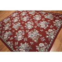 Eclectic Country Cottage Traditional Hand Woven Needlepoint Area Rug (8'x10')