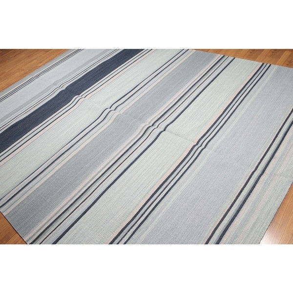 Flatweave Dhurry Hand Knotted Reversible Oriental Area Rug - 8'x10'