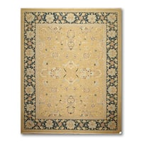 """Pure Wool Reversible Hand Knotted Soumak Oriental Area Rug (9'1""""x12'4')"""